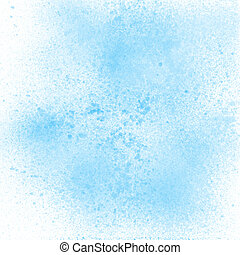 Blue pastel spray paint on white background