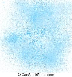 Blue pastel spray paint on white background