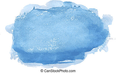 Blue Pastel Stain, Vector Illustration