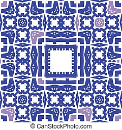blue pattern abstract vector