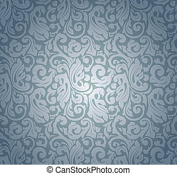 Blue pattern seamless