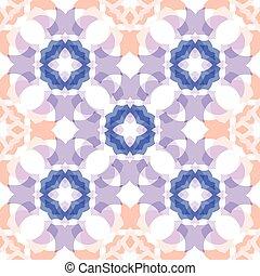 blue peach colored  translucent cross seamless pattern