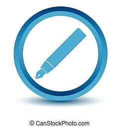 Blue pen icon