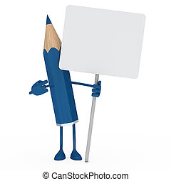 blue pencil billboard