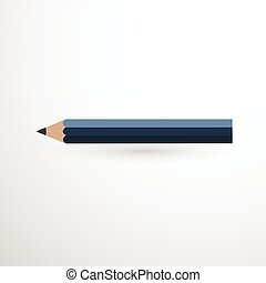 Blue Pencil Icon isolated illustration