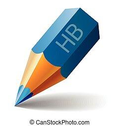 Blue Pencil Vector Icon