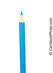 Blue pencil vertically