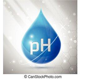 PH Balance Icon - Blue PH Balance Icon or Label Isolated on...
