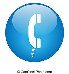 Blue Phone Button