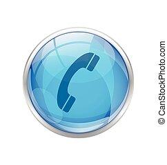 Blue Phone Icon