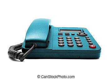 Blue phone isolated on white background