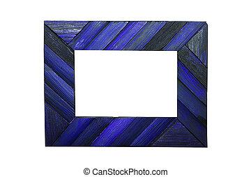 blue photo frame