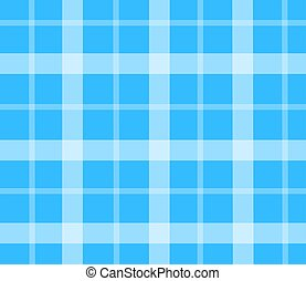 Blue picnic tablecloth vector flat isolated