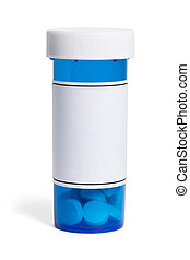 Blue Pill Bottle - Pill Bottle, concept for Healthcare And ...