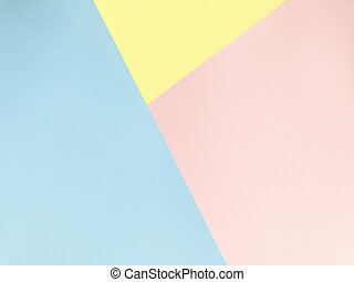 Blue, pink and yellow Pastel color background