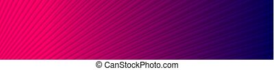 Blue pink neon striped smooth abstract banner design