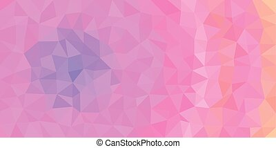 Blue Pink Orange Low Poly Vector Background