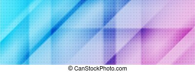 Blue pink smooth stripes abstract tech banner