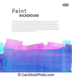Blue pink watercolor paint background down