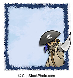 Blue Pirate Frame