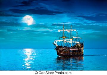 Blue Pirate Ship
