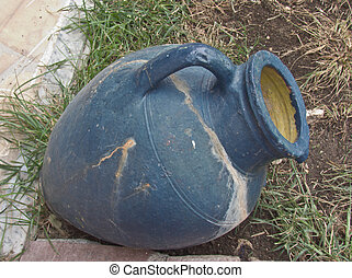 blue pitcher in the Greek style