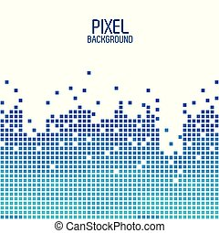 blue pixel background design over white