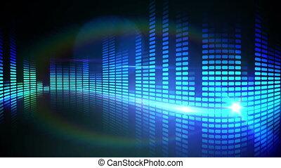 Blue pixel design of music volume