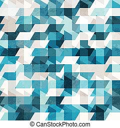 blue pixel seamless pattern