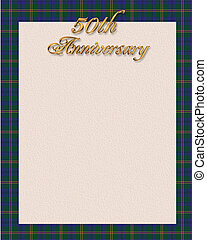 Blue plaid border invitation border - Image and illustration...