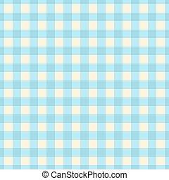 Blue plaid seamless pattern.