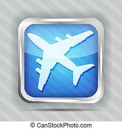 blue plane icon