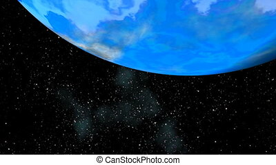 Blue planet. Depths of space.