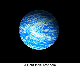 Blue planet - Illustration of a blue planet