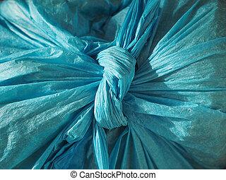 blue plastic bag texture background
