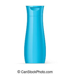 Blue Plastic Bottles Beauty Products
