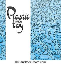 Blue plastic constructor