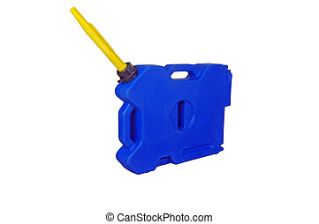 Blue plastic Expedition canister, container