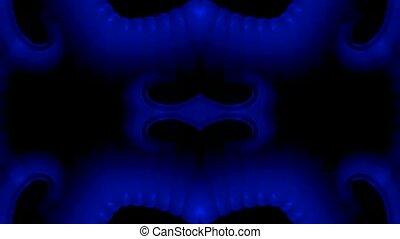 blue plastic flower lace pattern