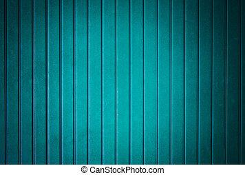 Blue plastic roof.