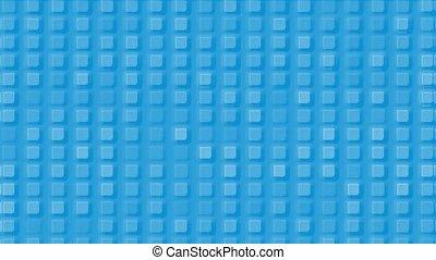 blue plastic square mosaics & block brick matrix wall.