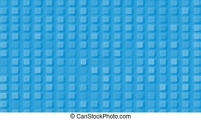 blue plastic square mosaics & block brick matrix wall.