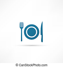 blue plate icon