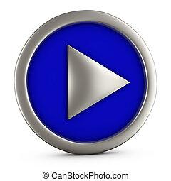 Blue play button