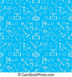 Blue plumbing services background