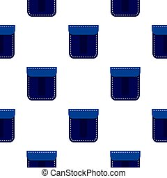 Blue pocket pattern flat