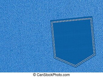 Blue pocket - Rendered artwork with white background