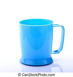 blue pohár, műanyag