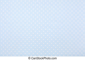 Blue polka dot fabric texture background