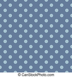 Blue polka dots vector background